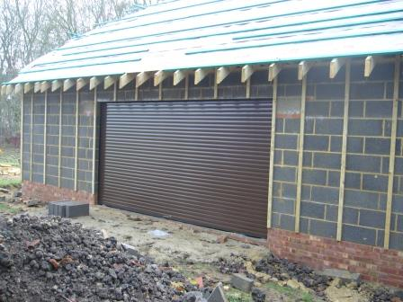 Roof battens and Roller Shutters in place